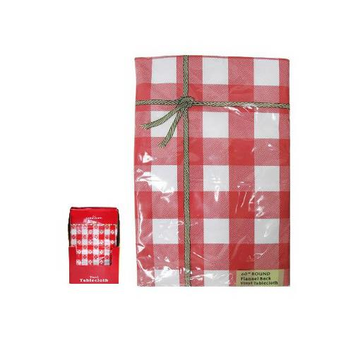 J & M Home Fashions 80284 52x90 RED Tablecloth