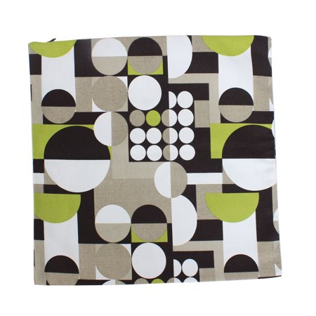 Unique Bargains Home Bed Sofa Decor Canva Dots Pattern Cushion Cover Case 45 x 45cm 2pcs