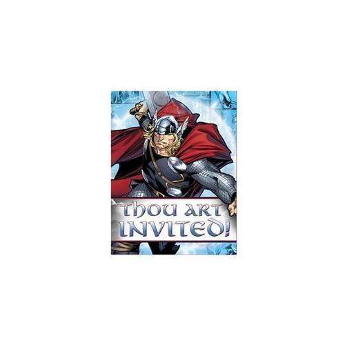 Hallmark Thor: The Mighty Avenger Invitations [set of 8]