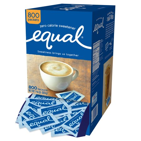 (800 Packets) Equal Zero Calorie Sweetener Packets, Sugar
