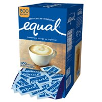 (800 Packets) Equal Zero Calorie Sweetener Packets, Sugar Substitute