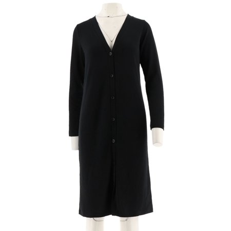 Denim & Co Long Slv Button Front Duster Cardigan A280669