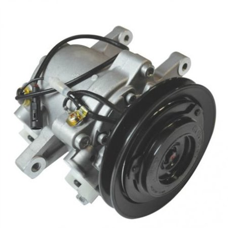 Air Conditioning Compressor - Nippondenso, Remanufactured, Denso, SVO7E,  Kubota, 3C581-97590