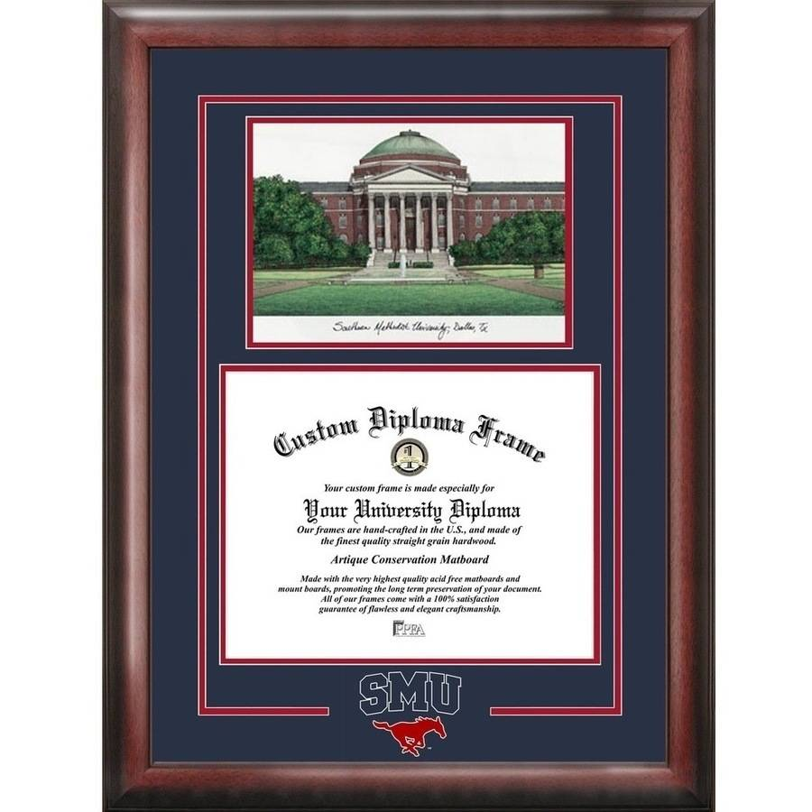 "SMU Mustangs Spirit Graduate 8.5"" x 11"" Frame with Campus Image"