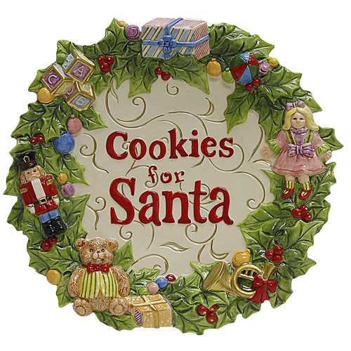 Kaldun & Bogle Toyland Christmas Cookies for Santa Plate Accent