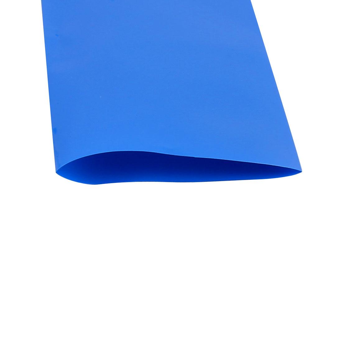 55mm Longueur 5.1 m Largeur Tube thermorétractable PVC bleu pour 18650 Pack batterie - image 1 de 2