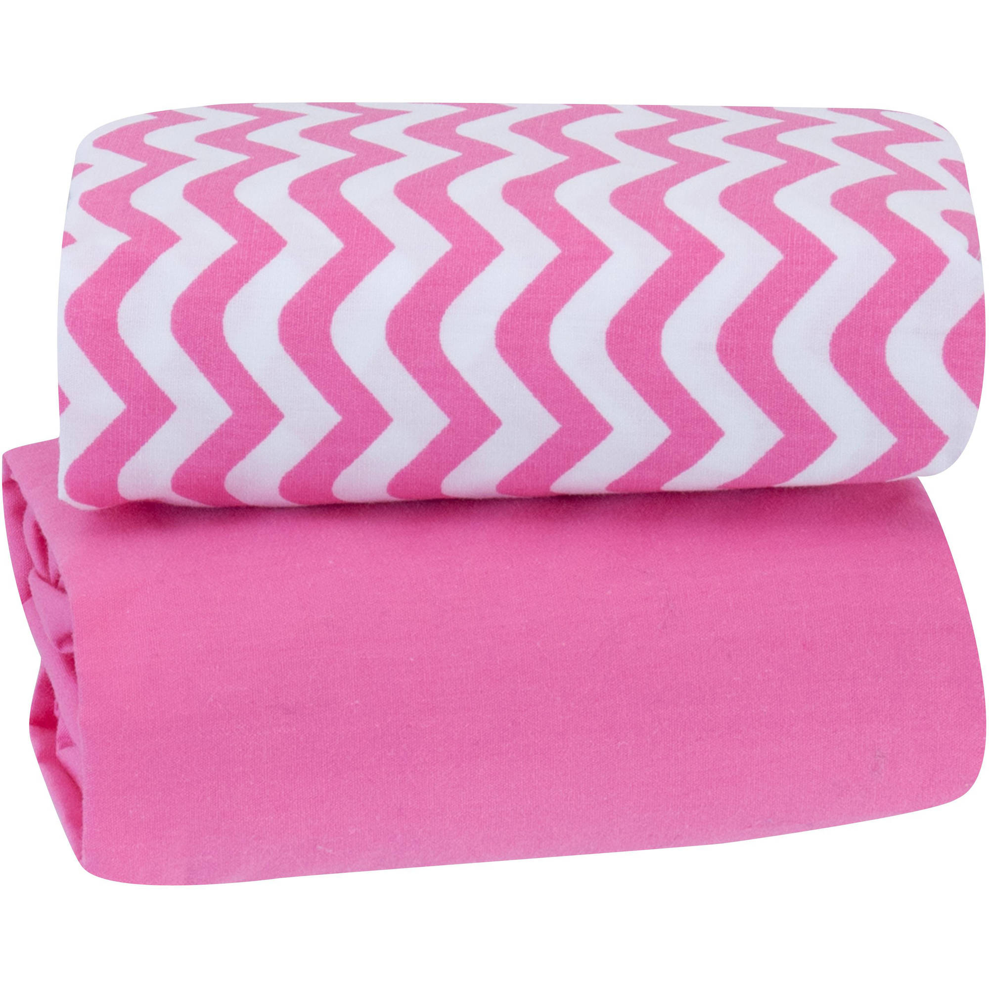 Garanimals Playard Sheet, 2pk, Strawberry Pink
