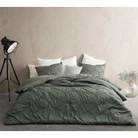 BYB Textured Waves Oversized Comforter - Supersoft Pewter