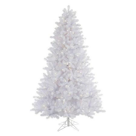 Vickerman Pre-Lit 4.5' Crystal White Pine Artificial Christmas Tree, LED, Warm White Lights