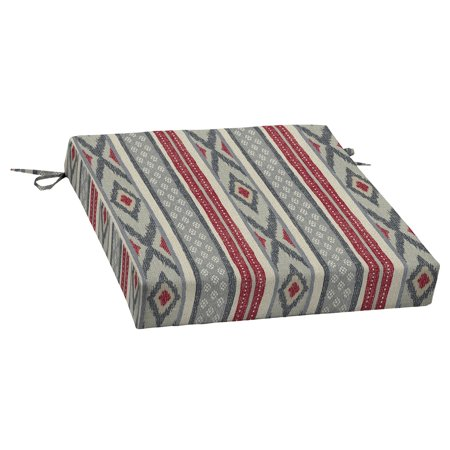 Better Homes & Gardens Rancho Stripe 21 x 21 in. Outdoor Dining Seat Cushion with EnviroGuard