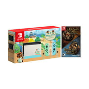 2020 New Nintendo Switch Animal Crossing: New Horizons Edition Bundle with Animal Crossing: New Horizons Game Disc and Mytrix NS Tempered Glass Screen Protector - 2020 New Limited Console & Best Game!