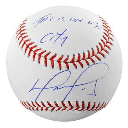 David Ortiz Boston Red Sox Fanatics Authentic Autographed Baseball with This Is Our F'N City Inscription - No Size