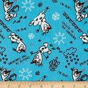 Disney Frozen Olaf Sketch Blue 100% Cotton Fabric by the Yard