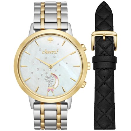 8e7bfe1e72 Kate Spade New York - Women's KST23103B Grand Metro Two Tone Silver Hybrid  Smartwatch Gift Set - Walmart.com