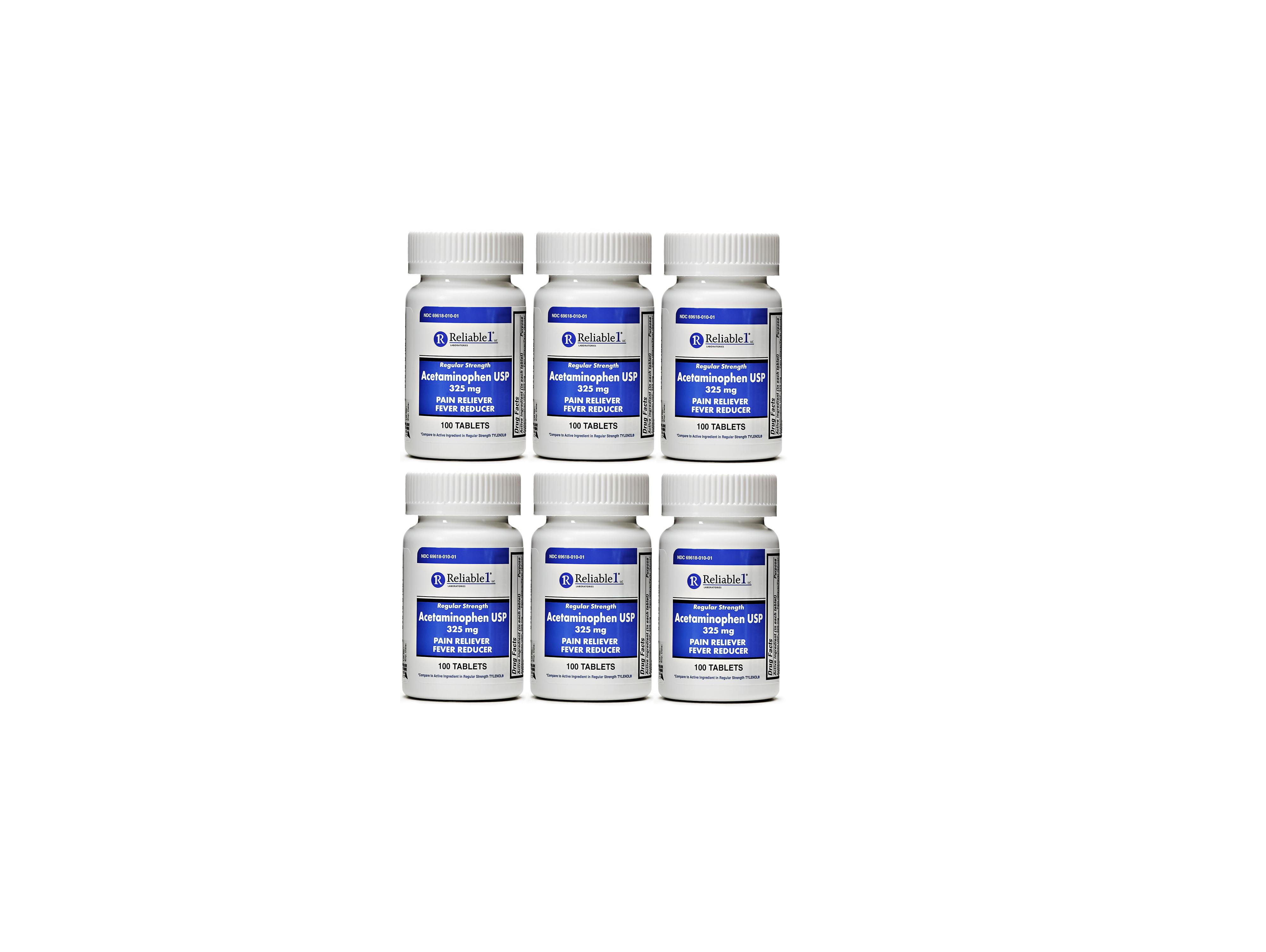 Diphenhydramine 25 mg Generic Benadryl Allergy Medicine and Antihistamine  100 Capsules per Bottle PACK of 6