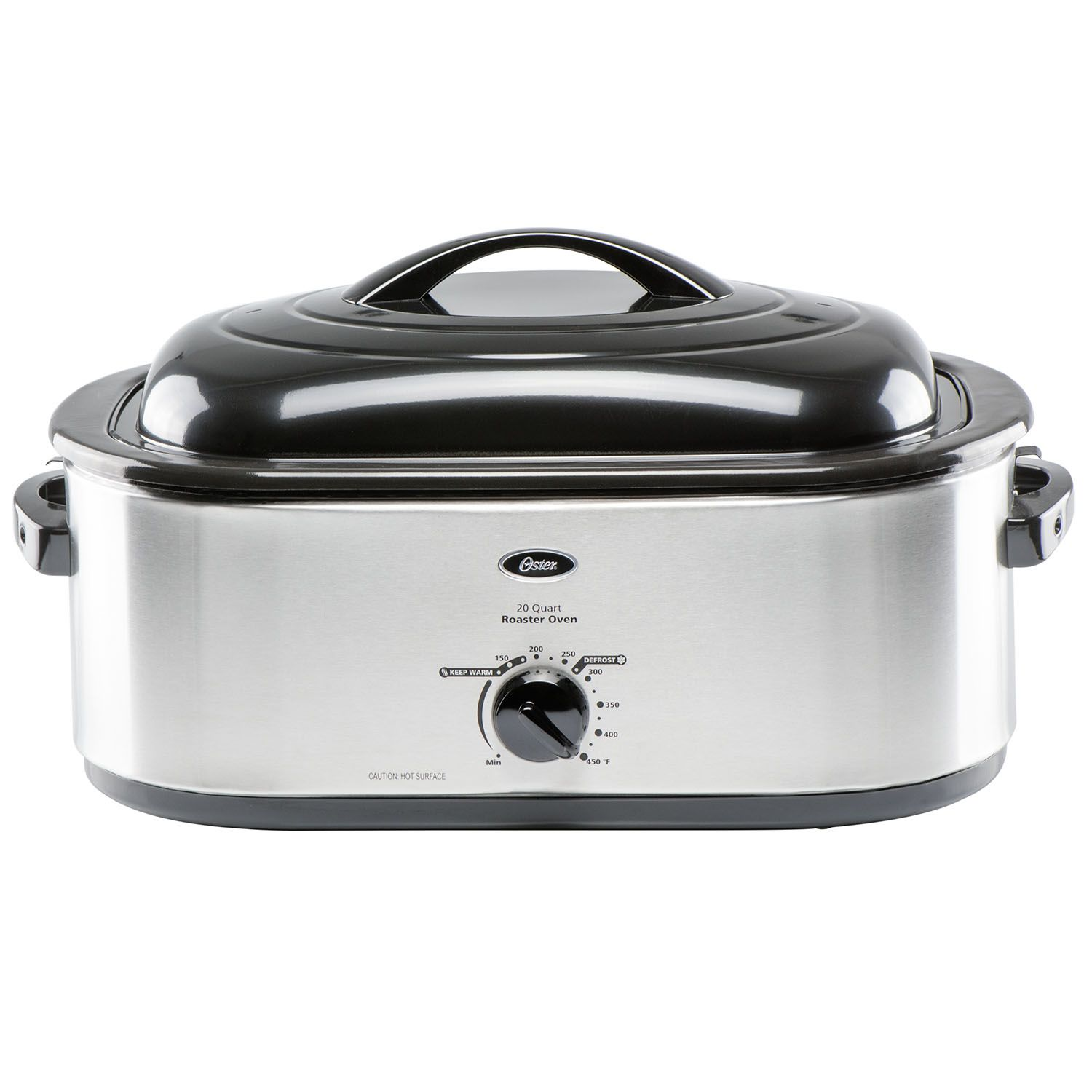 Oster 24-Pound Turkey Roaster Oven, 20-Quart Capacity, Stainless-Steel