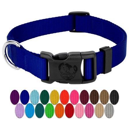 Country Brook Petz | Vibrant 23 Color Selection | Deluxe Nylon Dog Collar (Medium, 3/4 Inch Wide)