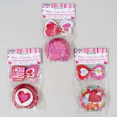 Valentine 48 Piece Cupcake Kit Case Pack 48