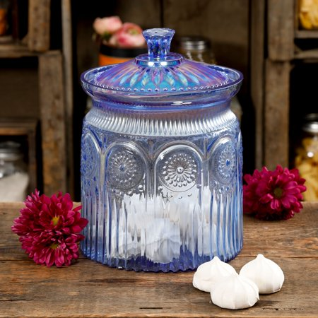 The Pioneer Woman Luster Blue 9.1-Inch Peralized Cookie Jar