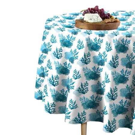 Fabric Textile Products Blue Coral Tablecloth 60