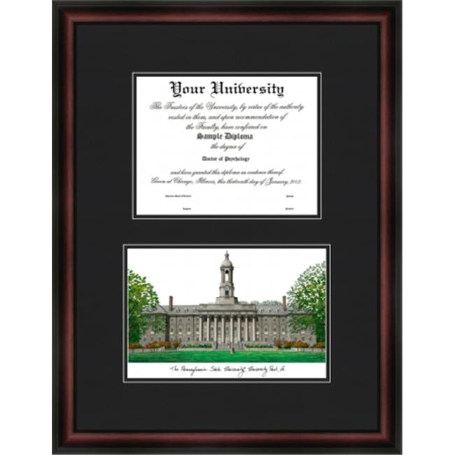 Campus Images PA994D The Pennsylvania State University ''Diplomate'' Lithograph and Diploma Opening