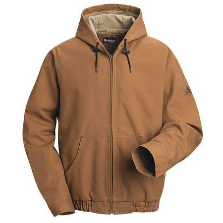 Brown Duck Lineman Hooded Jacket with Lanyard Access, Excel FR ComforTou