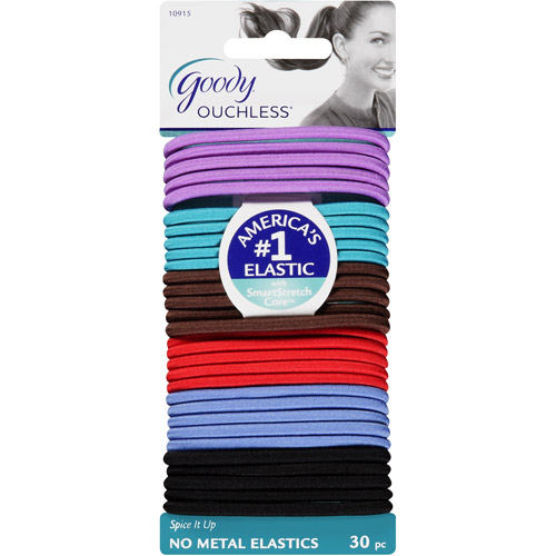 Goody Ouchless No Metal Elastics, Spice It Up, 30 count