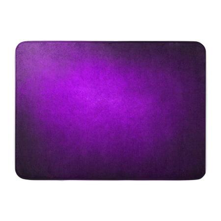 KDAGR Abstract Purple Solid Color Bright Center Spotlight Fine Black Vignette Border Doormat Floor Rug Bath Mat 30x18 inch ()