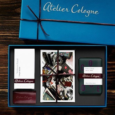 Atelier Cologne Vetiver Fatal  Perfume 30 Ml  Soap 200 Ml And 4Xcard Gift Set