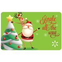 Jingle All the Way Walmart Gift Card