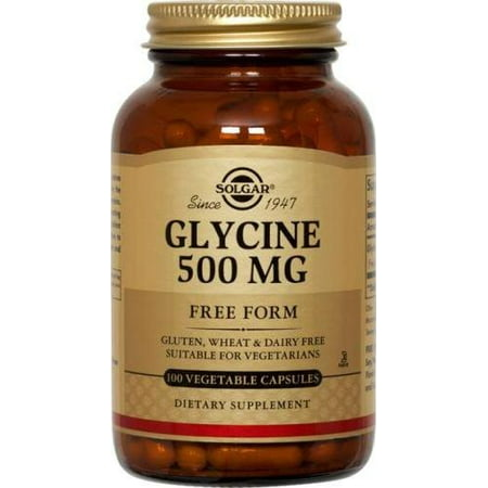 Solgar Glycine 500 mg Vegetable Capsules, 100 Ct