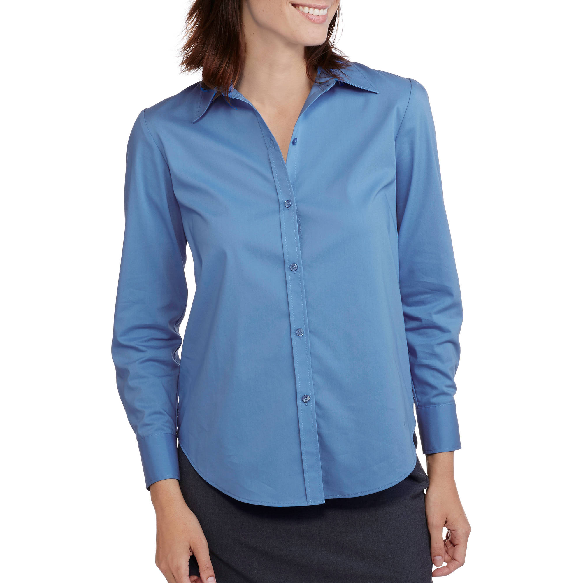 George Career Essentials Women's Long-Sleeve Core Button Down Shirt