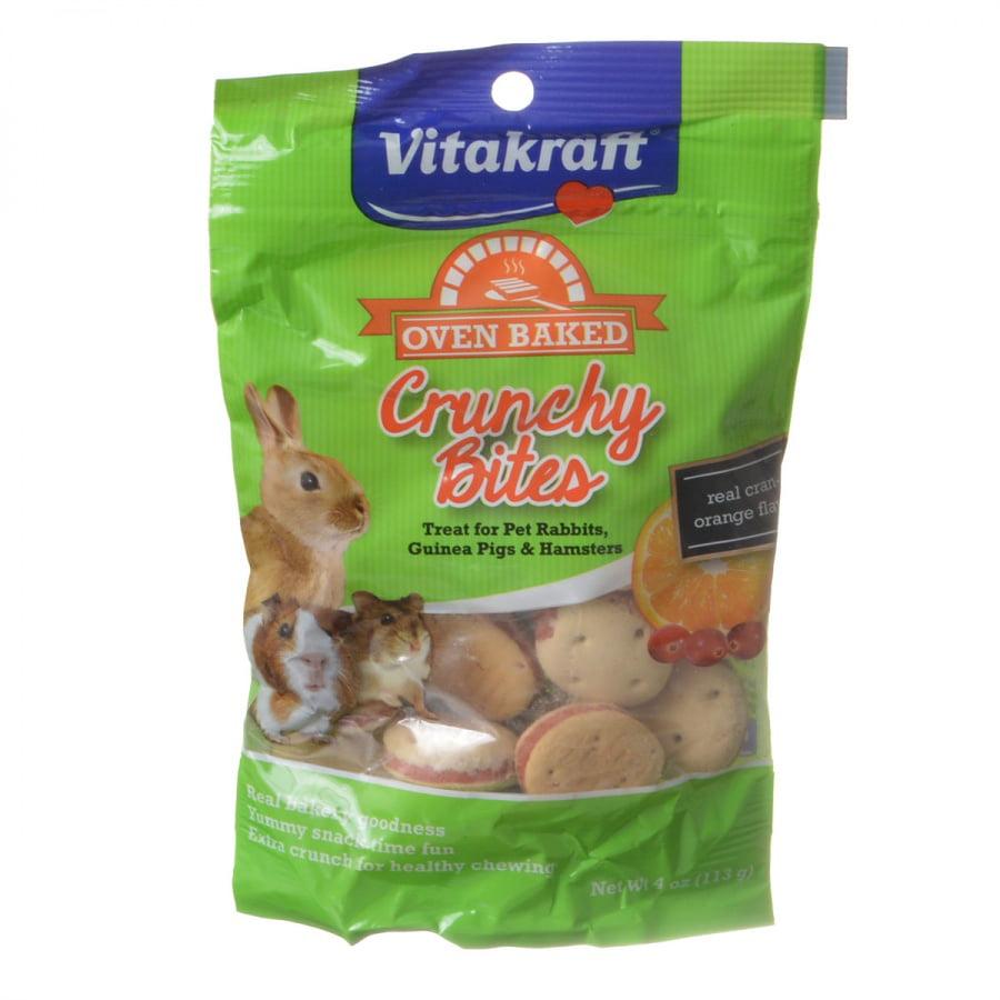 Vitakraft Crunchy Bites with Real Cran-Orange Flavor Small Animal Treat, 4 oz.