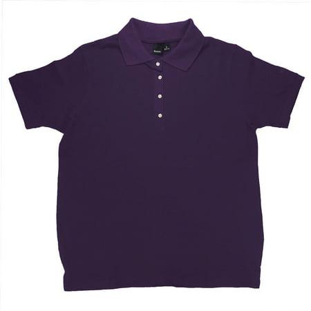 Women 39 s platinum cotton pique 7316 polo shirt uniform for Purple polo uniform shirts