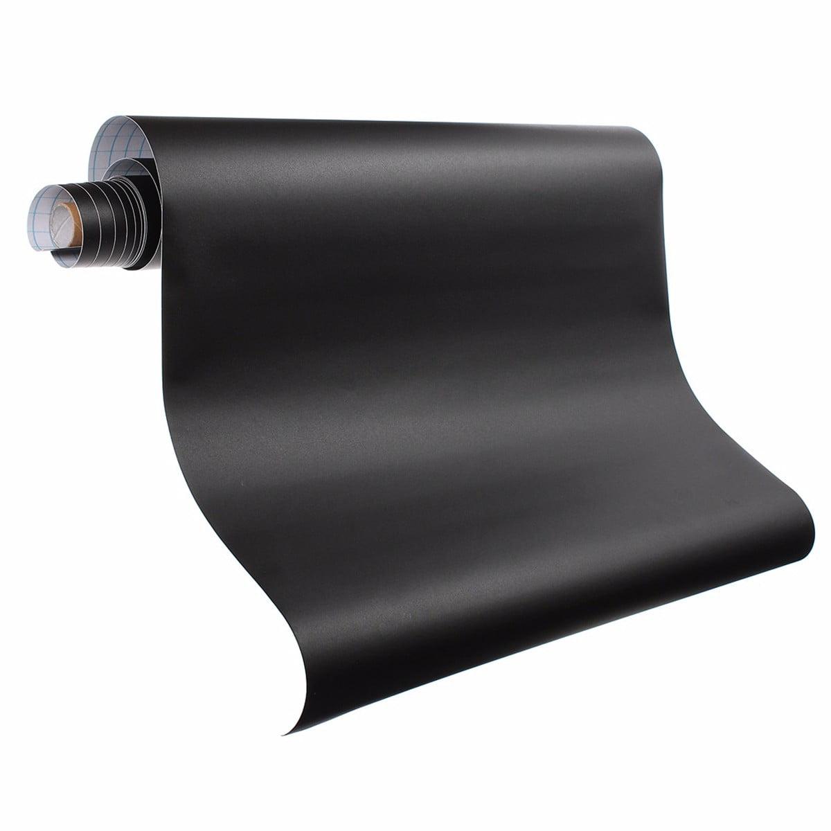 200 x 45cm Vinyl Blackboard Sticker Self Adhesive Wall Sticker Chalkboard Wall Paper Contact Paper For School... by