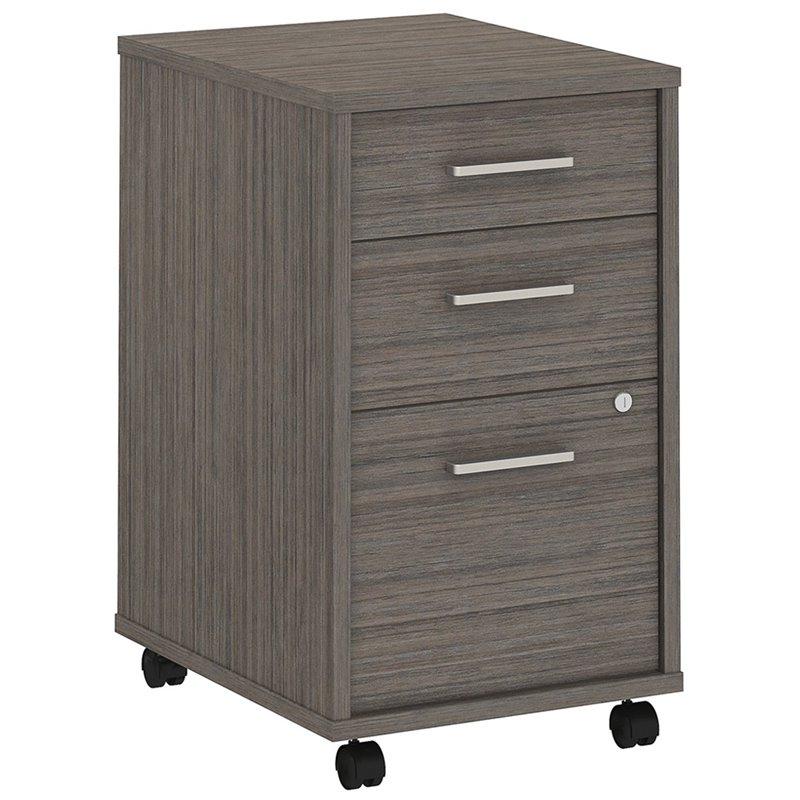 BBF Method by Kathy Ireland Mobile File Cabinet Assembled in Cocoa