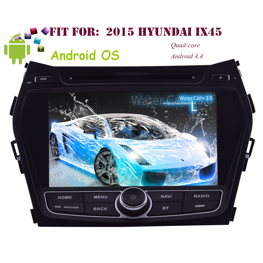 3D GPS Pure Android 4.4 Capacitive Touch Screen 8 Inch Car DVD Player For Hyundai Santafe IX45 2013-2015... by EinCar
