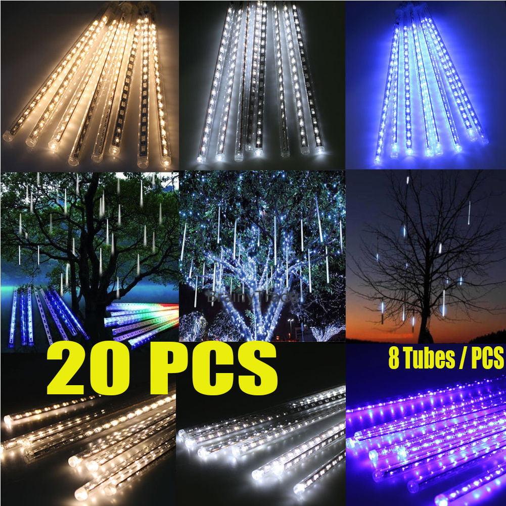 New 20PCS 8*30cm LED Meteor Shower Rain Lights Waterproof...