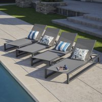 Christopher Knight Home Modesta Outdoor Aluminum Mesh Chaise Lounge (Set of 4) by