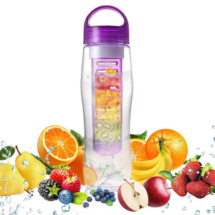 Fruit Infuser Water Bottle NOVAMASS 800ml BPA-free Water Bottle Sport Bottle,Leak Proof & Easy to Use(Purple)