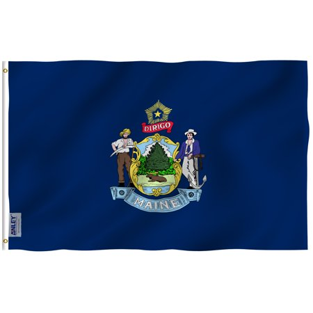ANLEY Fly Breeze 3x5 Foot Maine State Flag - Vivid Color and UV Fade Resistant - Canvas Header and Double Stitched - Maine ME Flags Polyester with Brass Grommets 3 -