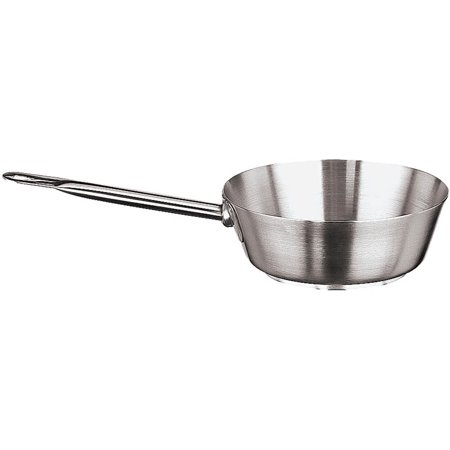Paderno World Cuisine Grand Gourmet #1100 Slanted Saute Pan, 1.25 Qt, Stainless Steel, 11112-18