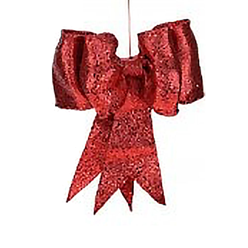 Red Glitter Bow SM 8 inch