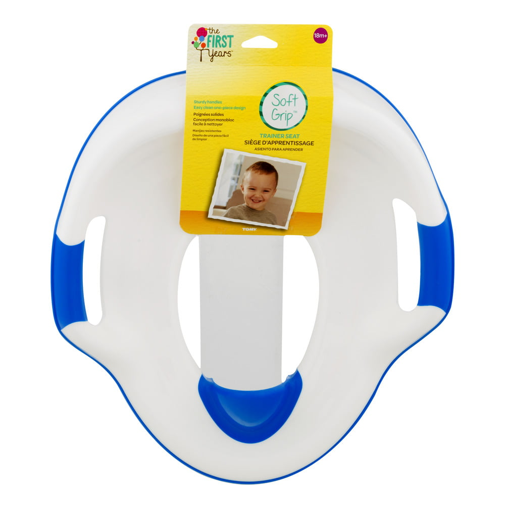 The First Years Soft Grip Trainer Seat, Toddler Potty Training Toilet Seat, 18m+ by The First Years