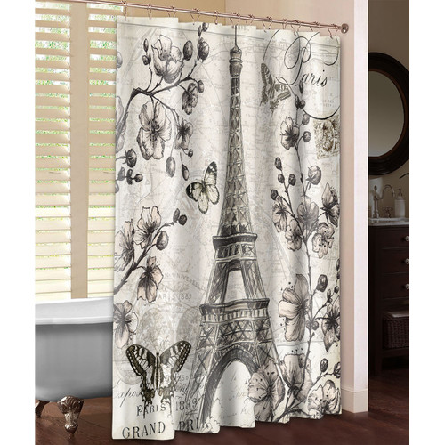 Laural Home Paris in Bloom Single Shower Curtain