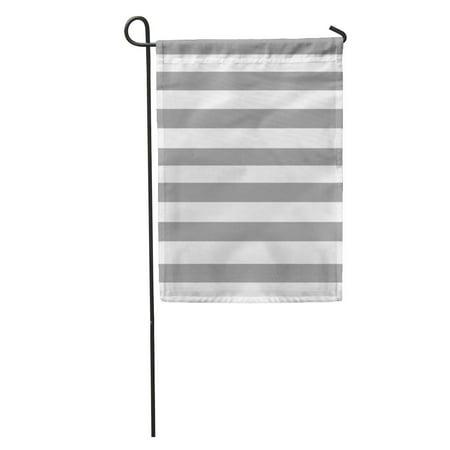 POGLIP White Pale Grey Stripes Bright Classic Digital Geometric Graphic Grid Garden Flag Decorative Flag House Banner 28x40 inch - image 2 de 2