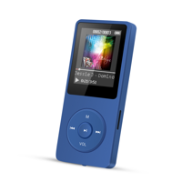agptek a20 8gb & 80 hours playback mp3 player lossless sound music player with independent lock & volume control, red
