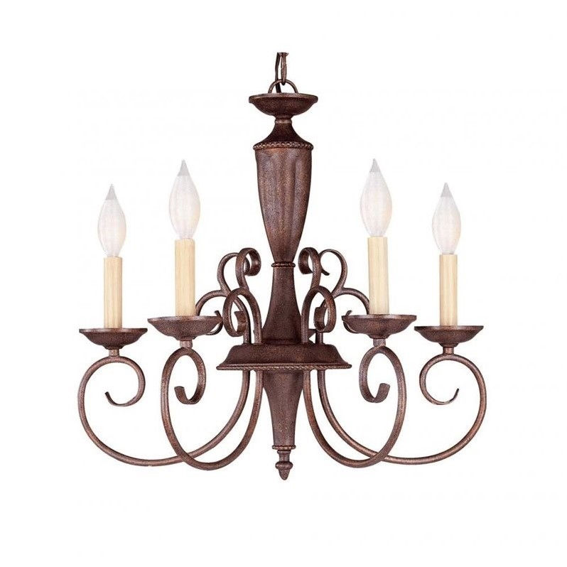 Savoy House Liberty 5 Light Chandelier in Walnut Patina