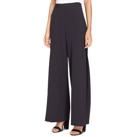 Tahari Deep Womens Wide-Leg Dress Pants Stretch ()