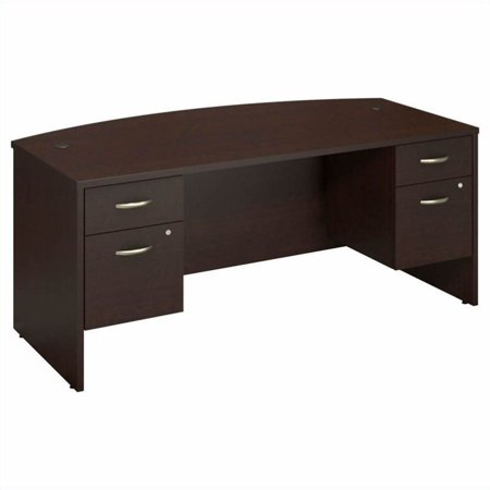 "Bush Business Series C 72"" Bowfront Desk with 2 Pedestals - image 8 de 8"